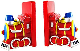 Charming Red Train Engine Bookends