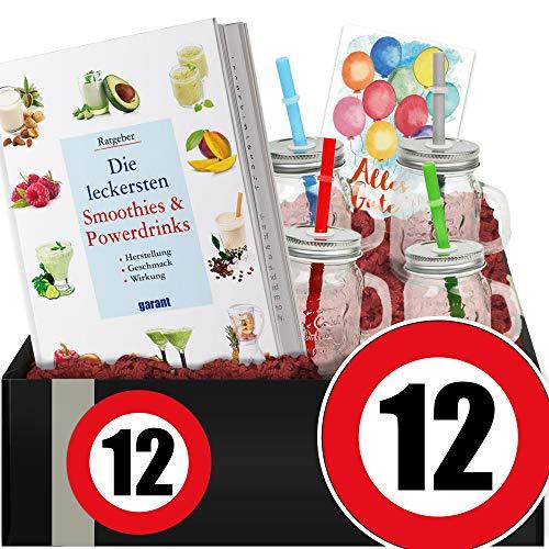 Zahl - 12 - Smoothie Geschenk + Becher - Geschenkidee 12 Jahrestag