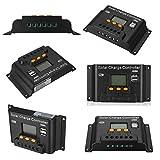 hgbygvuy 10/20/30/40/50 / 60A 12V / 24 V Regolare Il regolatore di Carica della Batteria Solare PWN per Il Supporto del Pannello Solare Supporto Duofold Uscita USB/Turgid LCD Display S (Color : 20A)