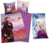 rainbowFUN.de Disney Die Eiskönigin II - Bettwäsche und Badetuch von Herding; Bettbezug: 135 x 200...