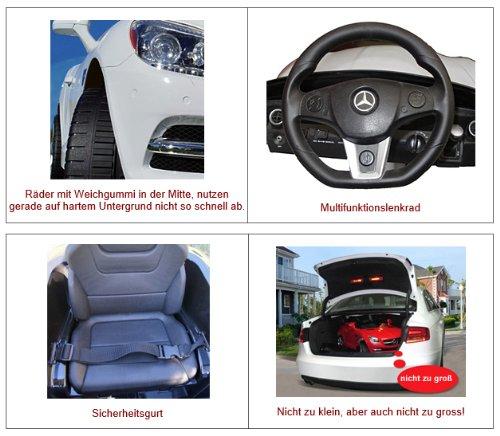 RC Auto kaufen Kinderauto Bild 4: crooza *2X Motoren* Soft-Start Original Mercedes-Benz AMG SLS Lizenz Kinderauto Kinderfahrzeug (ROT)*