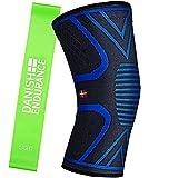 Ginocchiera a compressione tutore di supporto unisex & fascia elastica fitness (Medium)...
