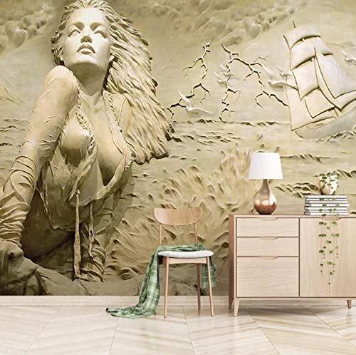 3d Tapete Geprägte Frau Fototapete Abstrakt Vlies Wand Tapete Wandbilder Wohnzimmer Schlafzimmer Kinderzimmer Dekoration Moderne Wanddeko,140x100 cm