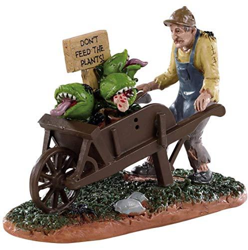 Lemax 92732 - Garden of Eaten Worker - Neu 2019 - Spooky Town - Gärtner & Fleischfressende Pflanzen - Halloween Figuren/Dekoration