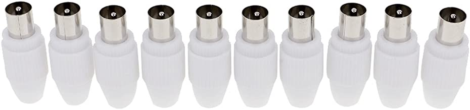 MagiDeal Conector Macho 10pcs RF Hembra 10pcs RF para Antena de TV por Cable Coaxial