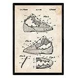Nacnic Patent Poster Katze Fuß Klettern. Blatt mit altem