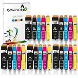 Colour Direct PGI-550XL CLI-551XL Reemplazo de Cartuchos de Tinta compatibles para Canon MG5650 MG6450 IP7250 MX814 iX6850 MG5550 IP7200 MG5600 MX920 MG5400 MG6450 MG7500 MX725-5 Juegos