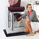 casa pura® Waschmaschinenunterlage mit hoher Vibrations- & Schalldämpfung | 60x60x2cm | aus recyceltem Gummigranulat | schwarz - 3