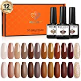 Best Gel Polish Kits - Gel Nail Polish Kit, 12 Pcs Winter Fall Review