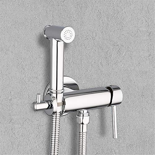 HNBMC Bidet Toilettensprühgeräte, Messing Bad Duscharmatur, Bidet Sprayer Bidet WC Waschmaschine Mixer Muslim Dusche, Single Cold Water Wasserhahn