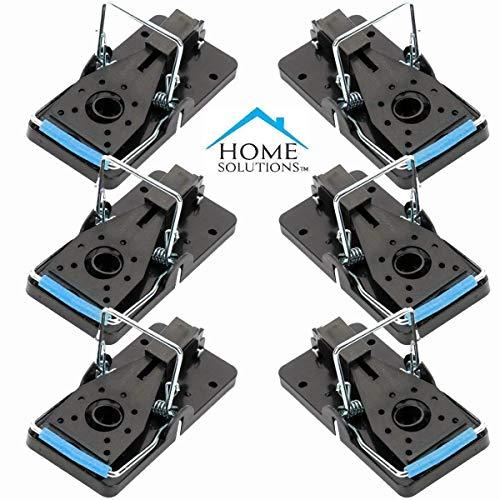 Home Solutions Mausefalle, Packung mit 6, kein Bedarf für mäusegift, mäusefalle, schlagfalle, mäuse vertreiber, mausefallen mit köder, lebend, lebendfalle maus, mäuse köder