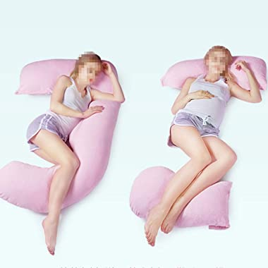 Pregnancy Pillow, Swan Velvet Full Body U Shaped Maternity Pillow, Breastfeeding and Nursing Pillow Replaceable and Washable