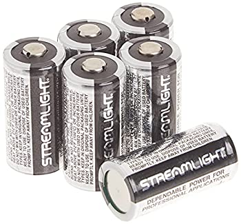 Streamlight 85180 CR123A Lithium Batteries 6-Pack  Black