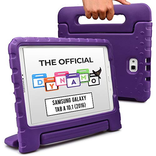 Cooper Dynamo [Rugged Kids Case] Protective Case for Samsung Tab A 10.1 (2016) | Child Proof Cover with Stand, Handle, Screen Protector (Purple)