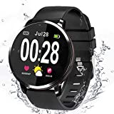 <span class='highlight'>Smart</span> <span class='highlight'>Watch</span>, <span class='highlight'>Fitness</span> Tracker, <span class='highlight'>Bluetooth</span> <span class='highlight'>watch</span>, Activity Tracker, Support Sport calorie Counter/Heart Rate/Blood Pressure/Music and camera remote control, Compatible with Android and IOS.