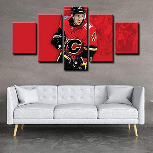 SDFFD Painting On Canvas Print Pictures 5 Pieces Modern Abstract Paintings Art Prints Modular Calgary Wings of Fire Johnny Gaudlow Johnny Hockey F1 Ferrari Pit Stop Pictures Home Modern Decoration