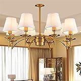 ZHQHYQHHX - Lámpara colgante de hierro para dormitorio, salón, retro, restaurante, iluminación al por mayor, estudio de personalidad, color marrón, tamaño gratuito