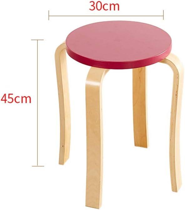 tabouret Salon en Bois Massif Mode Creative Table à Manger Maison Moderne Minimaliste Petit Banc Adulte Restaurant Chaise Salle à Manger (Color : J) J