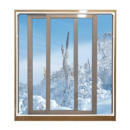 """Magnetic Window Insulation Kit - Heavy Duty Window Insulation Film with Full Frame Magnetic Strip Size Up to 72""""x 48"""" Max Warm in Winter and Cool in Summer"""
