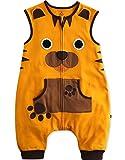 Vaenait Baby - Saco de Dormir para bebé de 1 a 7 años, 100% algodón, para niños Amarillo Tigre 5-7 Años