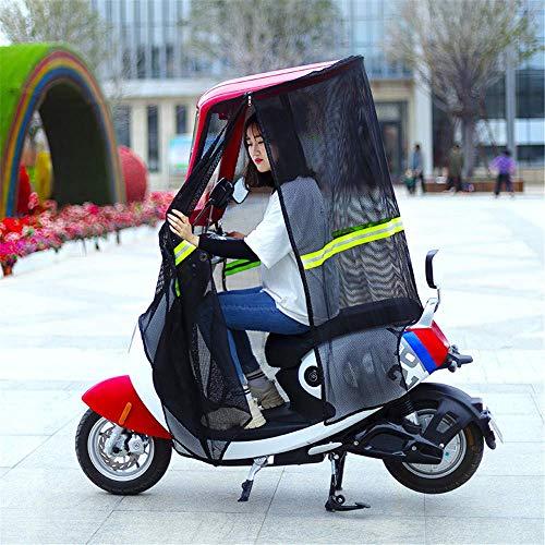 YLKCU Fundas para Motos Paraguas de cobertizo de Red de Sol de Verano, Placa de Parabrisas de Motocicleta eléctrica de Lluvia, Cubierta de Lluvia de sombrilla de Bicicleta eléctrica Universal