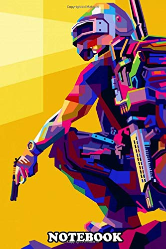 Notebook: Pubg Mobile Game Illustrations With Modern Pop Art Styl , Journal for Writing, College Ruled Size 6' x 9', 110 Pages