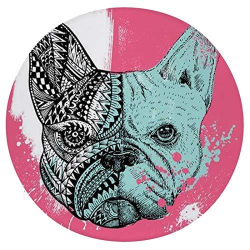 Cojín Cojín de Asiento de Espuma viscoelástica Redondo Bulldog Frances En Pintura Cojín súper Acogedor Cojín Suave para Interior