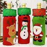 CYPYGDD The New Christmas - Juego de bolsas para botellas de vino con lentejuelas, diseño de muñeco de nieve, Milu deer