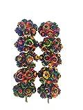 100 Rainbow Color Artificial Mulberry Paper Rose Flower Wedding Scrapbook 1.5 -1.8cm DIY Craft Scrapbook Scrapbooking Bouquet Craft Stem Handmade Rose Valentines Anniversary Embellishment Mini Roses