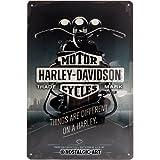 Nostalgic-Art Harley Davidson Things Are Different Placa Decorativa, Metal, Gris, 20 x 30 cm