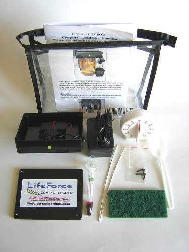 Compact Combo-2 Deluxe Colloidal Silver Generator Package by LifeForce Devices