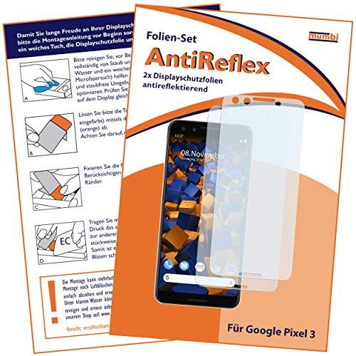 mumbi Schutzfolie kompatibel mit Google Pixel 3 Folie matt, Bildschirmschutzfolie (2X)