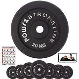 Hantelscheiben Gewichte Gusseisen Set 5-40 kg für Kurzhanteln 30 mm Paar (2 x 20 kg)