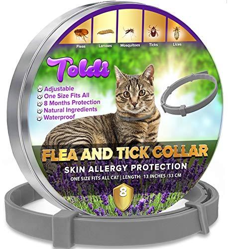 Flohhalsband für Katzen, wasserdicht, verstellbar, 12 Monate