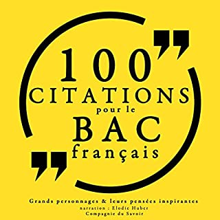 Couverture de 100 citations pour le bac français