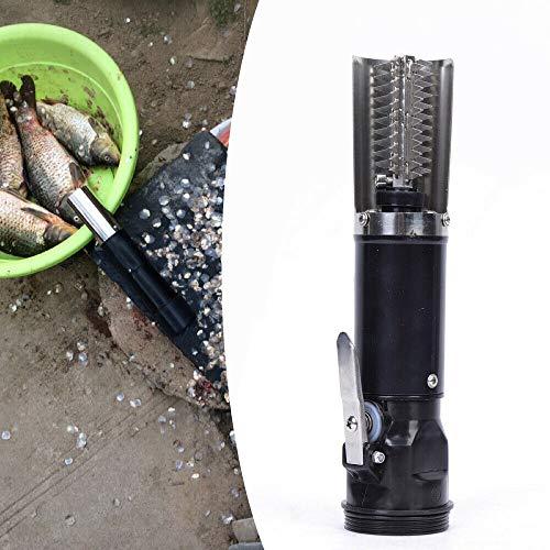 Kaibrite Fischentschupper Electerisch Fischschuppen Entferner Fish Scale Remover Electric Fischschupper Schuppenentferner mit Ladekabel, Wasserdichter