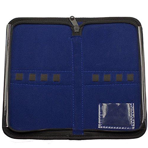 Etui folio en simili cuir – Vide – Noir – Pour Jusqu'à 8 Instruments – avec fermeture éclair