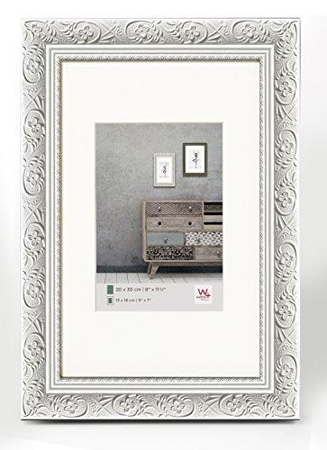 walther design CR050W Holzrahmen Barock, 40 x 50 cm weiß