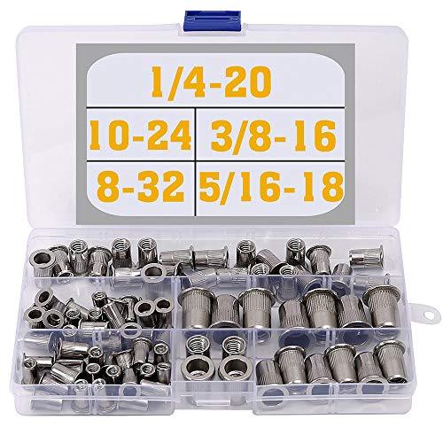 Stainless Steel Rivet Nuts Kit #8-32#10-24 1/4'-20 5/16'-18 3/8'-16 Threaded Insert Nutsert Rivnuts