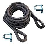 EIJPB Kinetic Rope Towing Strap 4/5 Inch x 20 Feet, Kinetic Rope Recovery UTV,UTV Recovery Rope is Suitable for Most Rescue Vehicles ATV UTV SUV.UTV Kinetic Rope,Recovery Kinetic Rope.