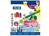 Caja 12 lápices de colores Maxi triangulares + sacapuntas