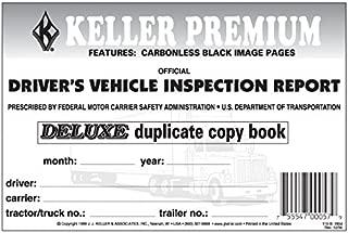 J.J. Keller 1854 Driver's Vehicle Inspection Report Book