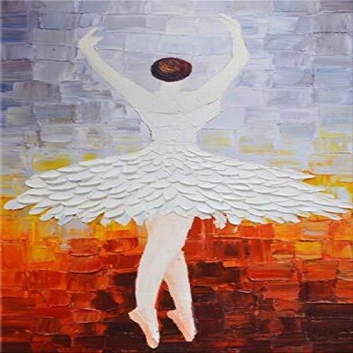 tzxdbh meisjes ballerina's, abstract, canvas, kunstdruk op de muur van dans, meisjes, Pop Art canvas, voor kamerdecoratie, 20 x 40 cm, zonder lijst