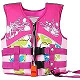 Kids Swim Vest Jacket Buoyancy Aid Children Life Jacket for Drifting Pink Buoyancy Swimwear for Girls Boys Swimming Learning M Size
