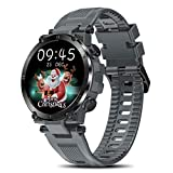 Smart Watch for Men Women, Fitness Tracker for Android/iOS Phone Activity Tracker 1.3' Touch Screen Heart Rate Tacking Sleep Monitor IP68 Waterproof Step Counter Calories Tracker Smartwatches (Grey)