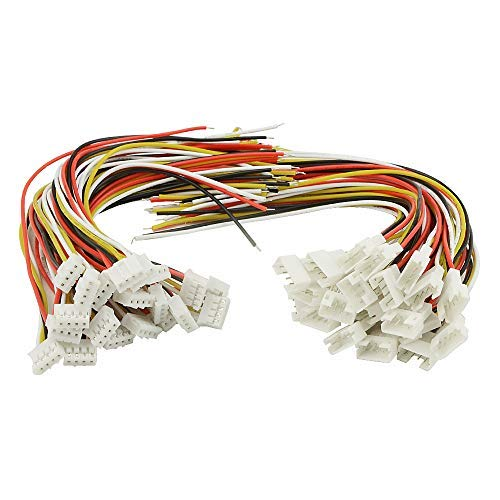 XLX 40PCS(20Pairs) 2.0mm 4PIN Female Male Connection Plug with 15cmTerminal Connector Wire Cable for LED Light Strip 5.9'' Compatible with JST PH