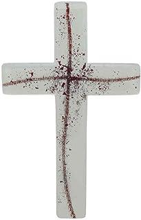 DELLARTE Articoli Religiosi Scatola portarosario cm 5,3 Croce San Benedetto e Rosario Vetro 7x5 Bianco