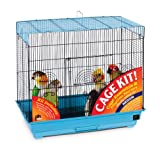 Our flight bird cage kit has everything your bird needs Cups, perches, treats and toys are included Ideal cage for small to medium sized birds Made in the USA 26-Inch long, 14-inch wide, 22-1/2-inch high with 1/2-inch wire spacing