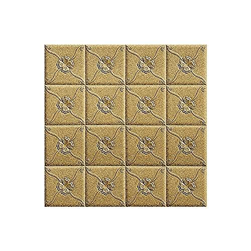 HOLSKEAT 10pcs Carta da Parati Mattoni 3D DIY Carta da Parati Decorativa Autoadesiva Impermeabile per Cucina Soggiorno Salone Ufficio, TV Sfondo DéCor Wall Sticker Wallpaper 70x70cm
