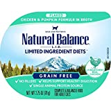 Natural Balance L.I.D. Limited Ingredient Diets Wet Cat Food, Chicken & Pumpkin Formula in Broth, 2.75 Ounce Cup (Pack of 24)